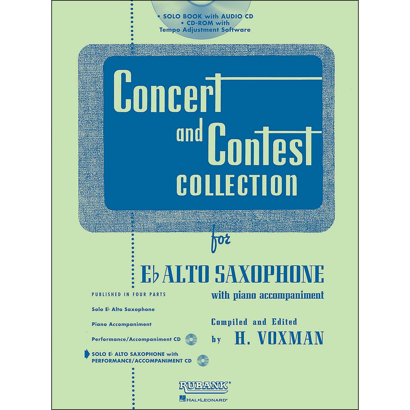 Hal Leonard Rubank Concert And Contest Collection Alto Sax Book/Online Audio thumbnail