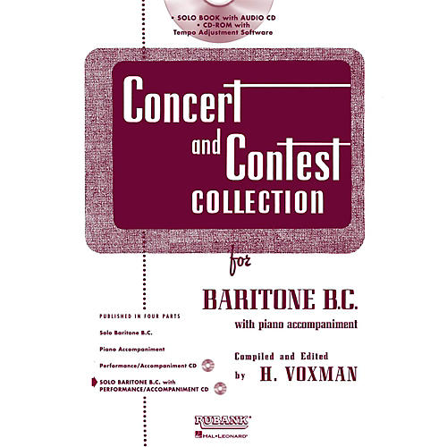 Hal Leonard Rubank Concert And Contest Collection Baritone B.C. Book/CD thumbnail