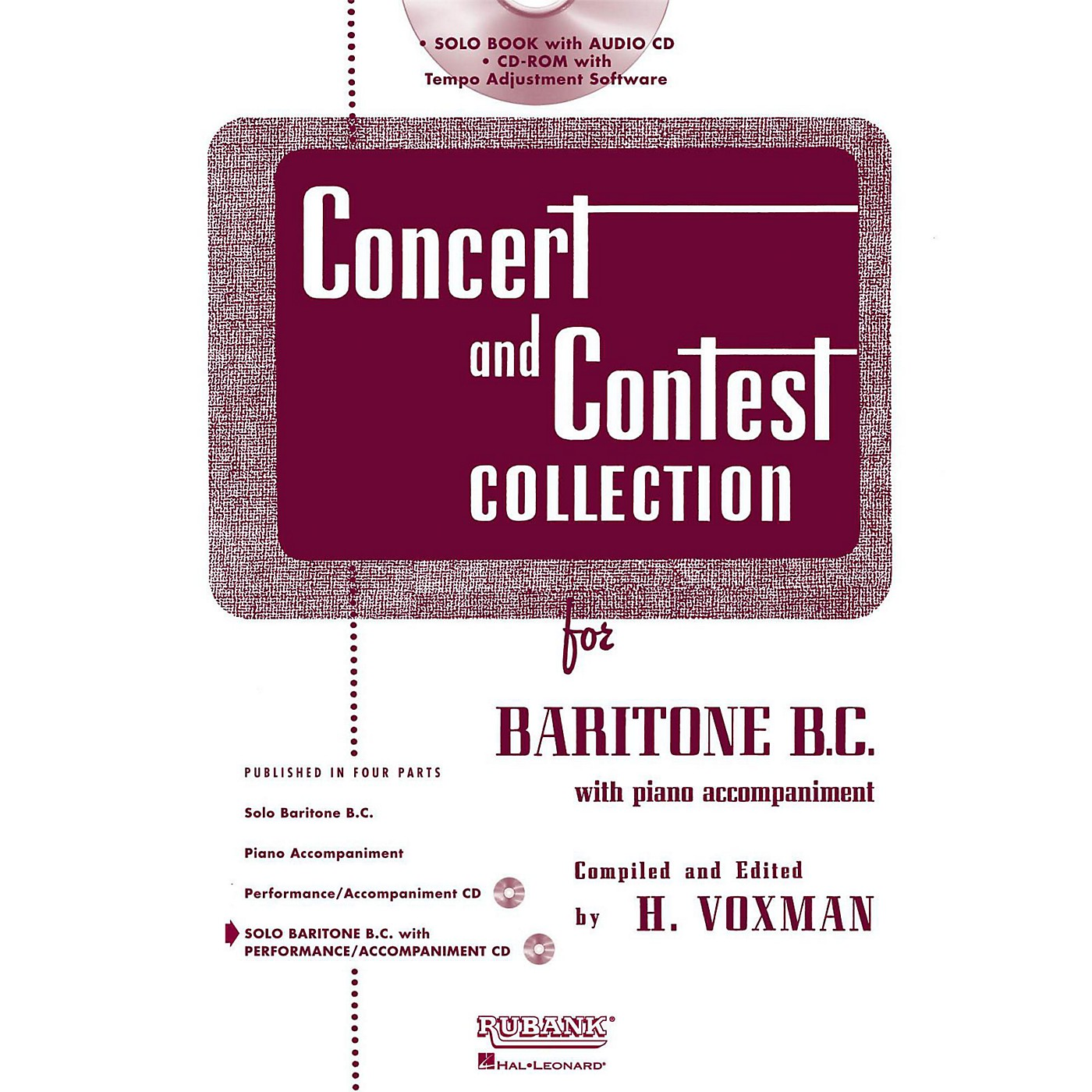 Hal Leonard Rubank Concert And Contest Collection Baritone B.C. Book/Online Audio thumbnail