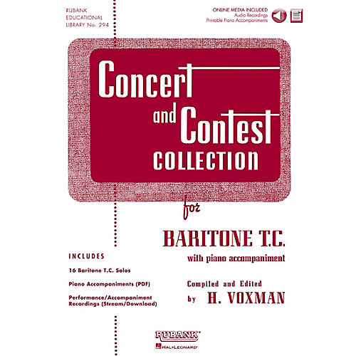 Hal Leonard Rubank Concert And Contest Collection Baritone T.C. Book/CD thumbnail