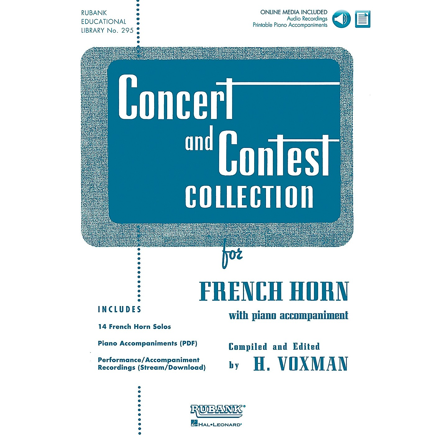 Hal Leonard Rubank Concert And Contest Collection F Horn Book/CD thumbnail