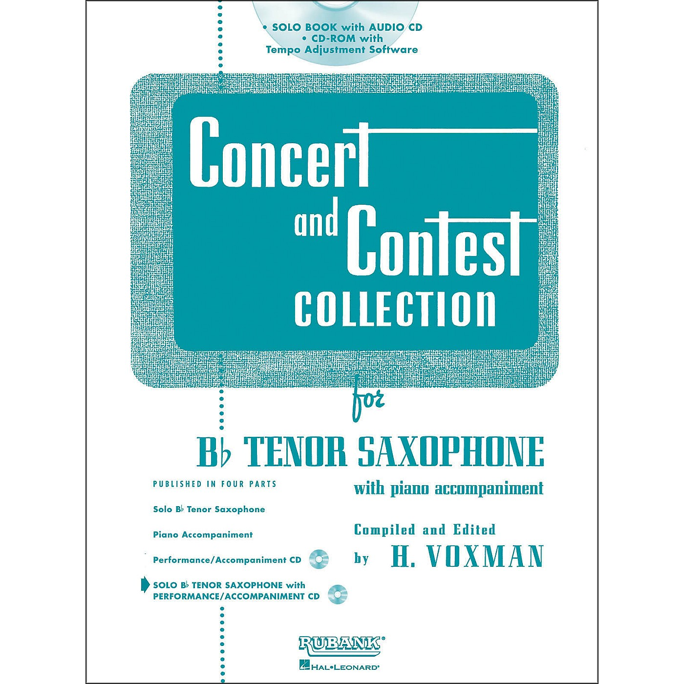 Hal Leonard Rubank Concert And Contest Collection Tenor Sax Book/Online Audio thumbnail