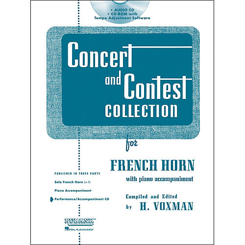 Hal Leonard Rubank Concert And Contest For French Horn - Accompaniment CD thumbnail