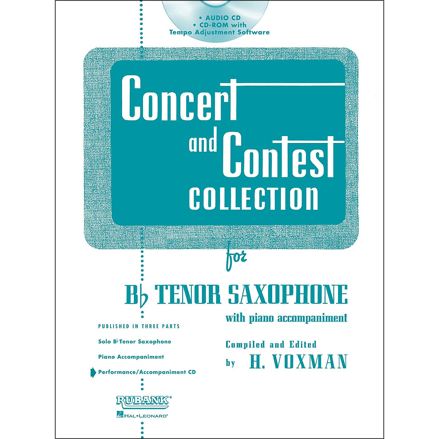 Hal Leonard Rubank Concert And Contest For Tenor Sax - Accompaniment CD thumbnail
