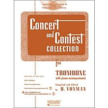 Hal Leonard Rubank Concert & Contest Collection Trombone Book/Online Audio
