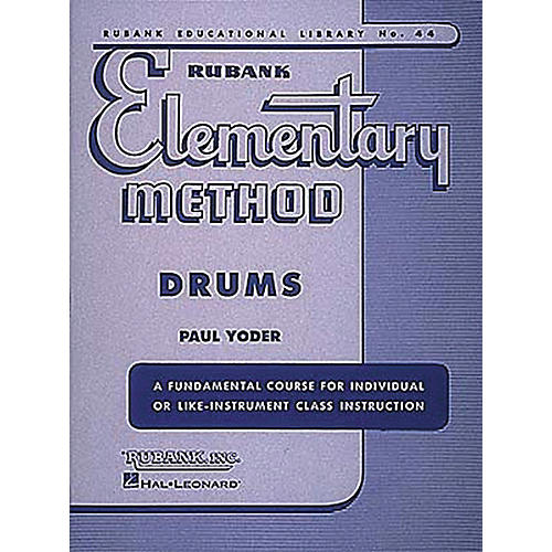 Hal Leonard Rubank Elementary Method - Drums Book thumbnail