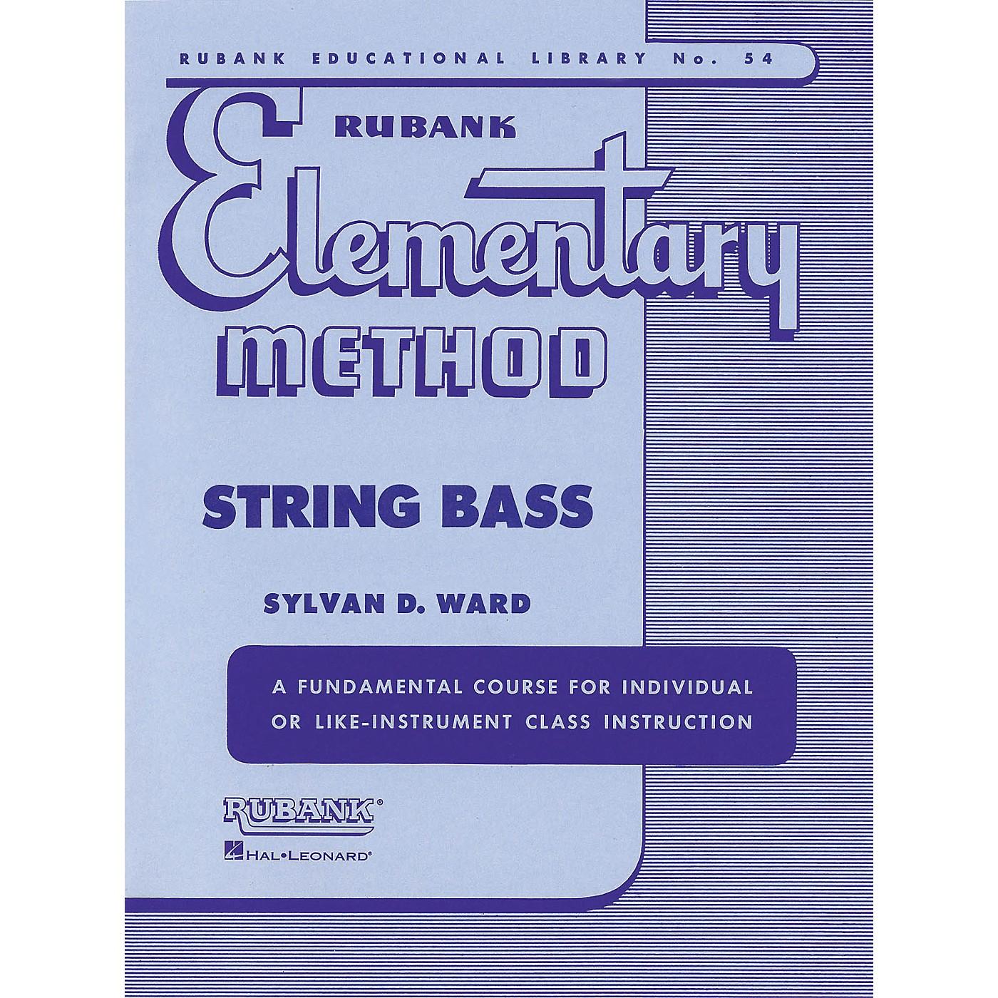 Hal Leonard Rubank Elementary Method - String Bass thumbnail