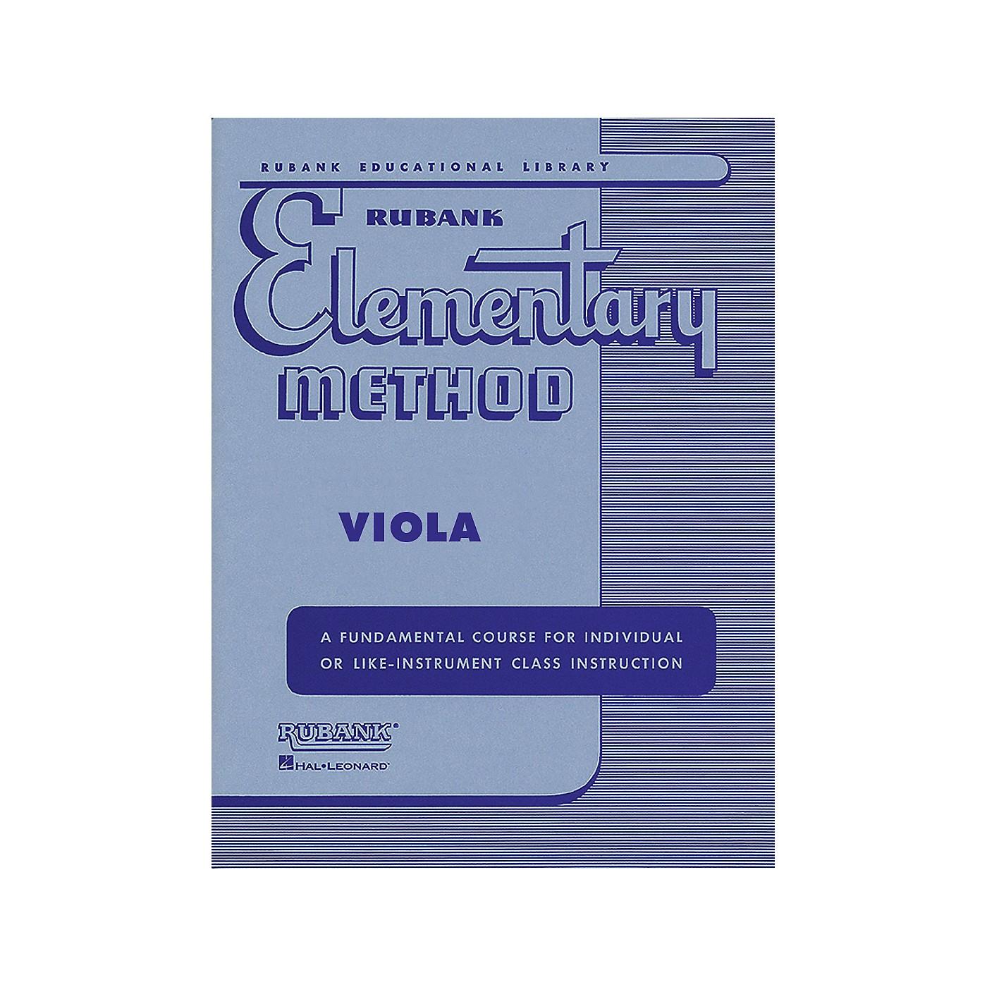 Hal Leonard Rubank Elementary Method - Viola thumbnail