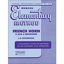 Hal Leonard Rubank Elementary Method French Horn In F Mellophone Or E Flat Alto