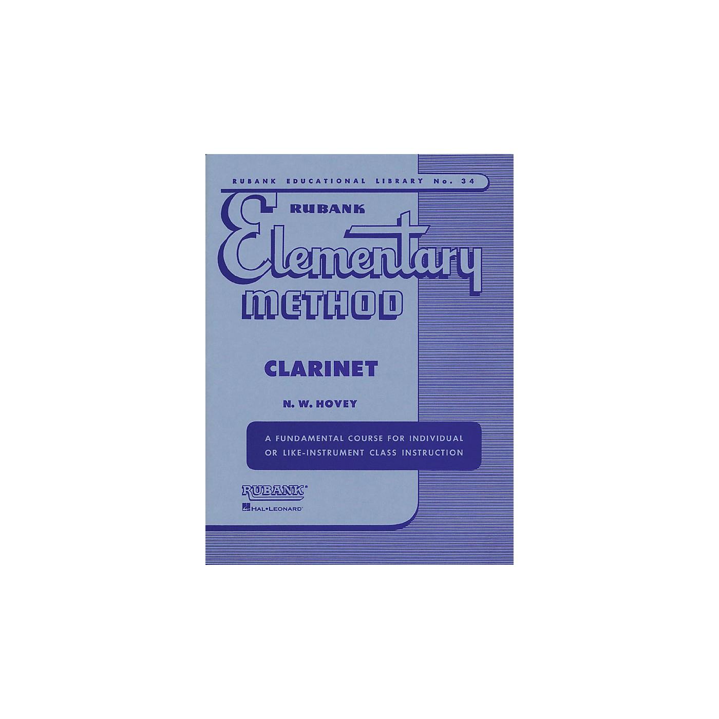 Hal Leonard Rubank Elementary Method for Clarinet thumbnail