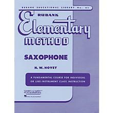 Hal Leonard Rubank Elementary Method for Saxophone