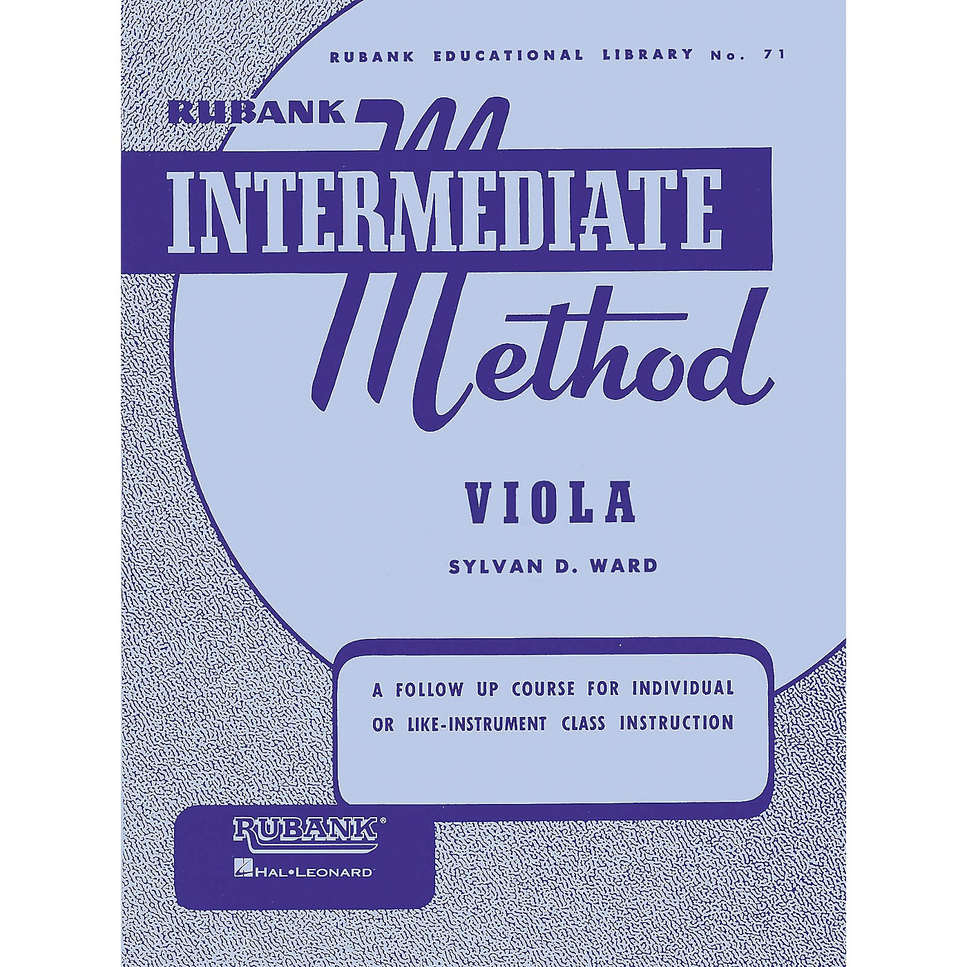 Hal Leonard Rubank Intermediate Method - Viola thumbnail