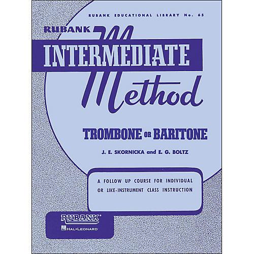 Hal Leonard Rubank Intermediate Method Trombone Baritone thumbnail