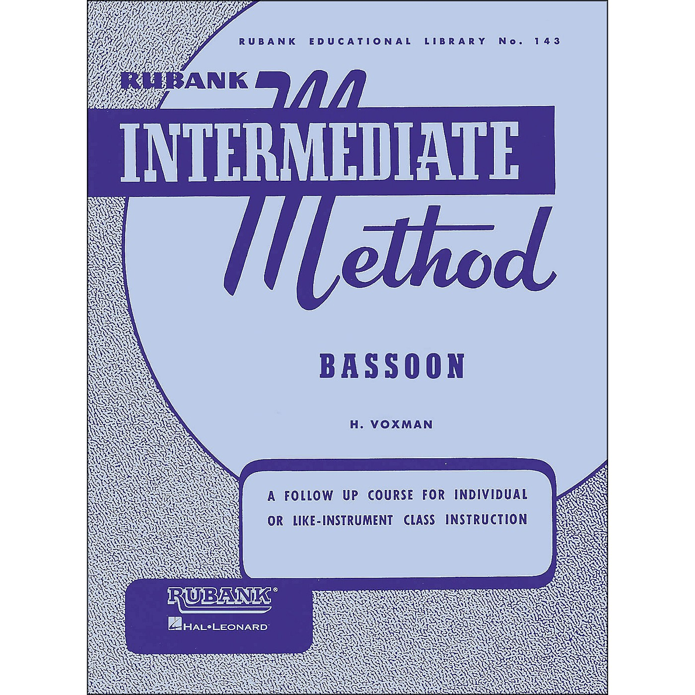 Hal Leonard Rubank Intermediate Methods - Bassoon thumbnail