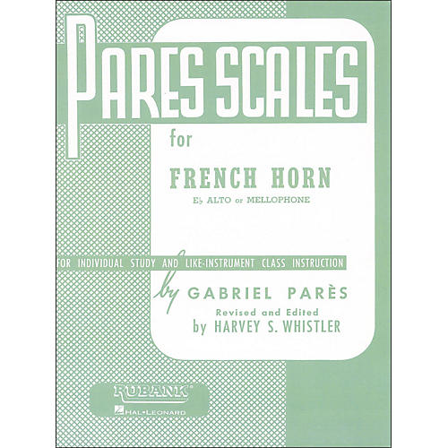 Hal Leonard Rubank Pares Scales for French Horn, E Flat Alto Or Mellophone thumbnail