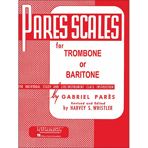 Rubank Pares Scales For Trombone Or Baritone Wwbw