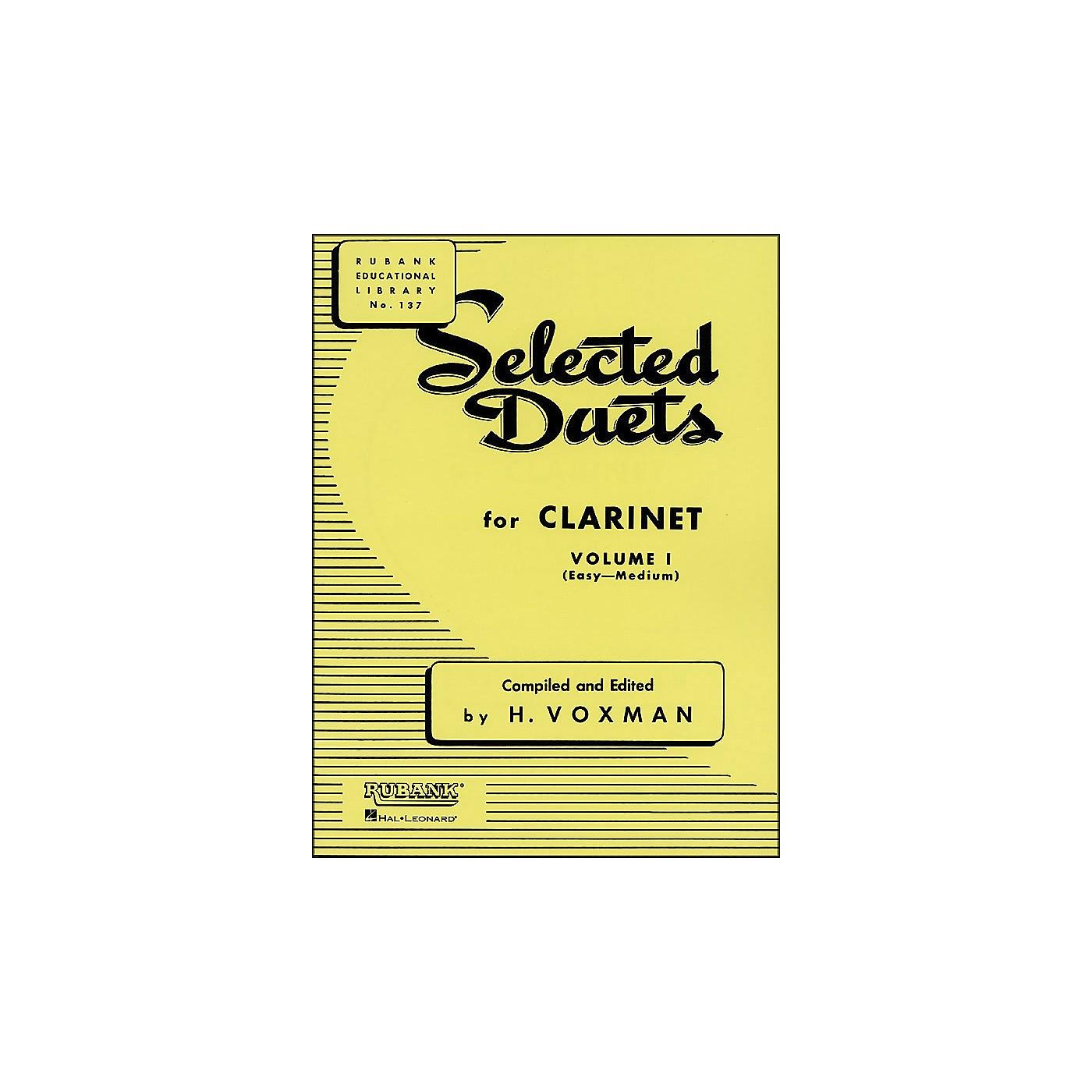 Hal Leonard Rubank Selected Duets for Clarinet Vol 1 Easy/Medium thumbnail
