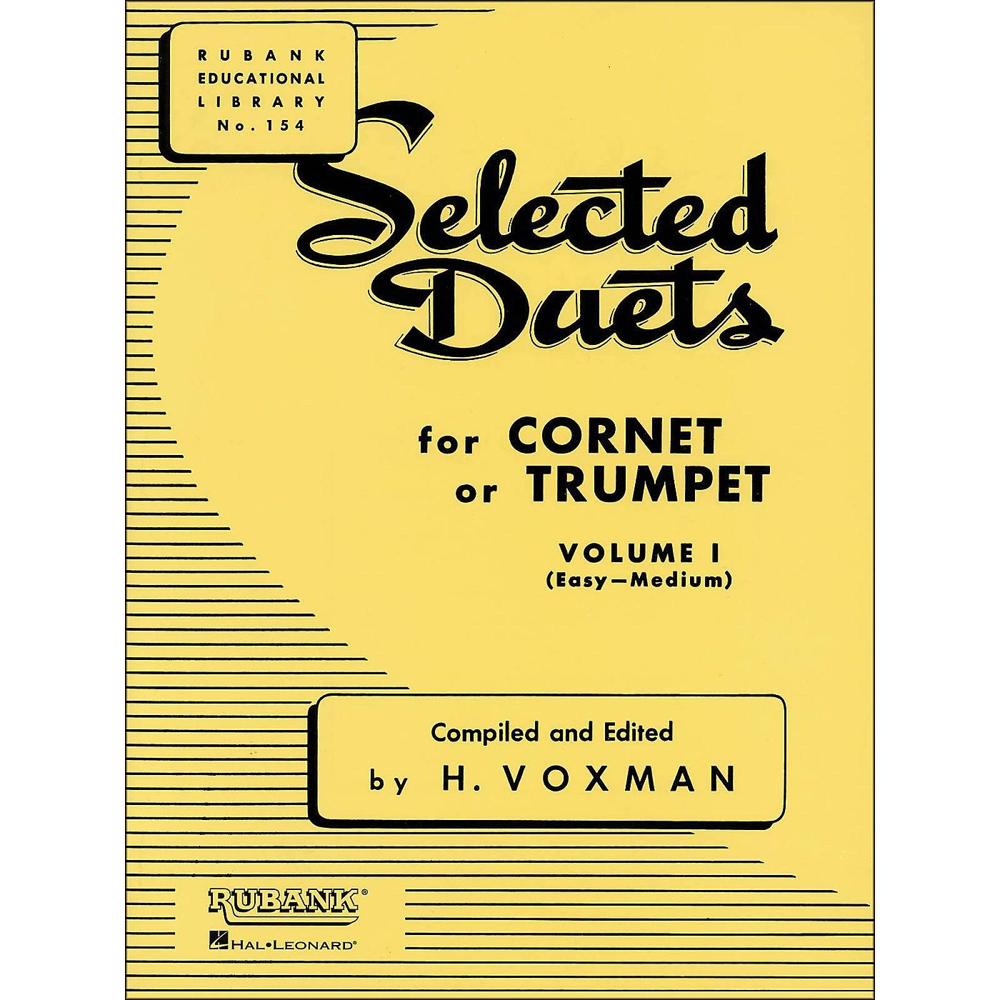 Hal Leonard Rubank Selected Duets for Cornet Or Trumpet Vol 1 Easy/Medium thumbnail