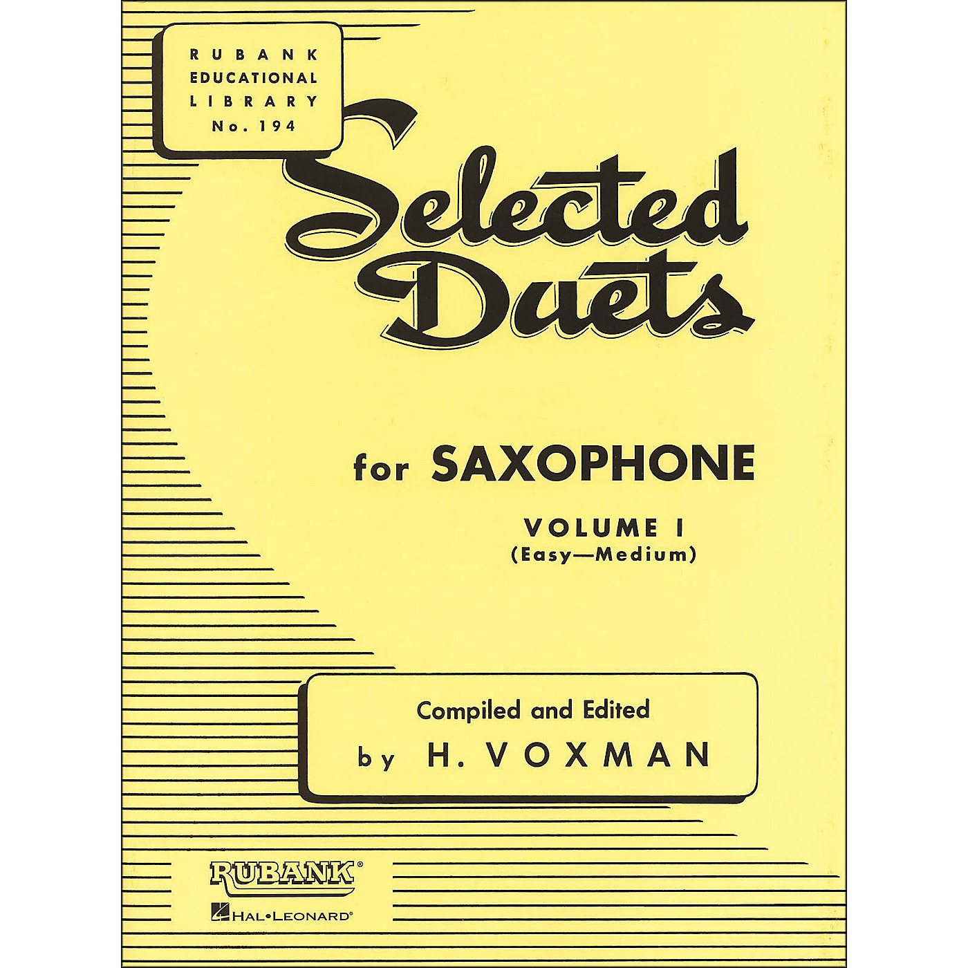 Hal Leonard Rubank Selected Duets for Saxophone Vol 1 Easy/Medium thumbnail