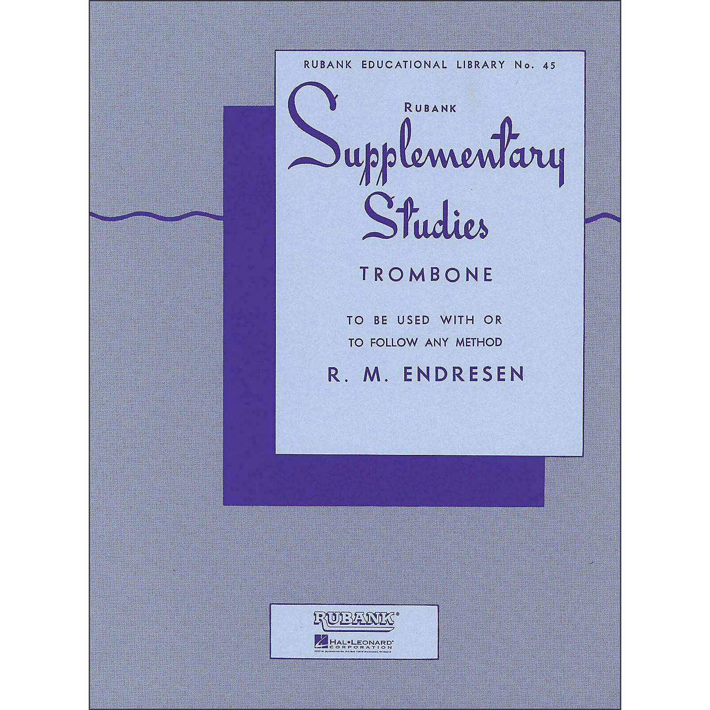 Hal Leonard Rubank Supplementary Studies for Trombone thumbnail