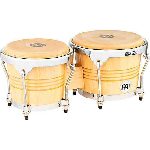 Meinl Rubber Wood Bongos with Chrome Hardware thumbnail