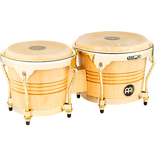 Meinl Rubber Wood Bongos with Gold Tone Hardware thumbnail