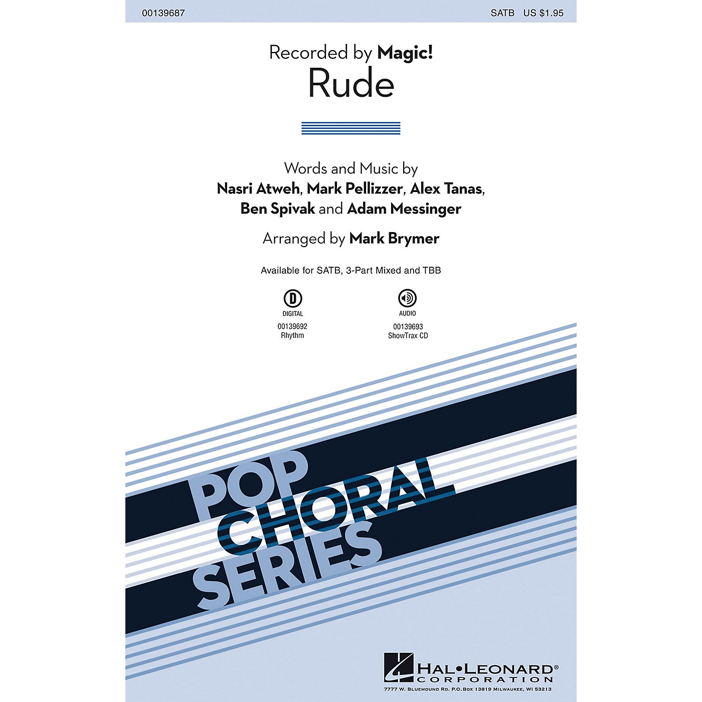 Hal Leonard Rude 3-Part Mixed by Magic! Arranged by Mark Brymer thumbnail