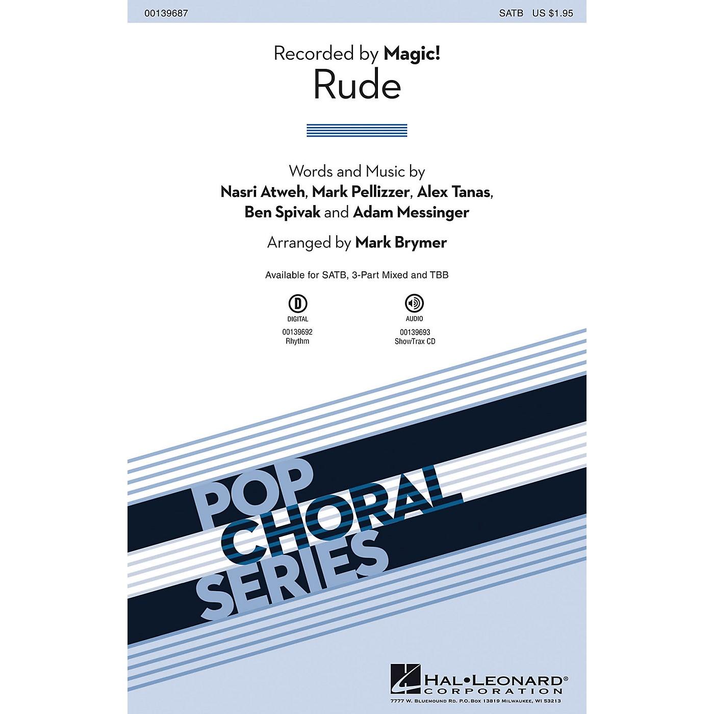 Hal Leonard Rude SATB by Magic! arranged by Mark Brymer thumbnail