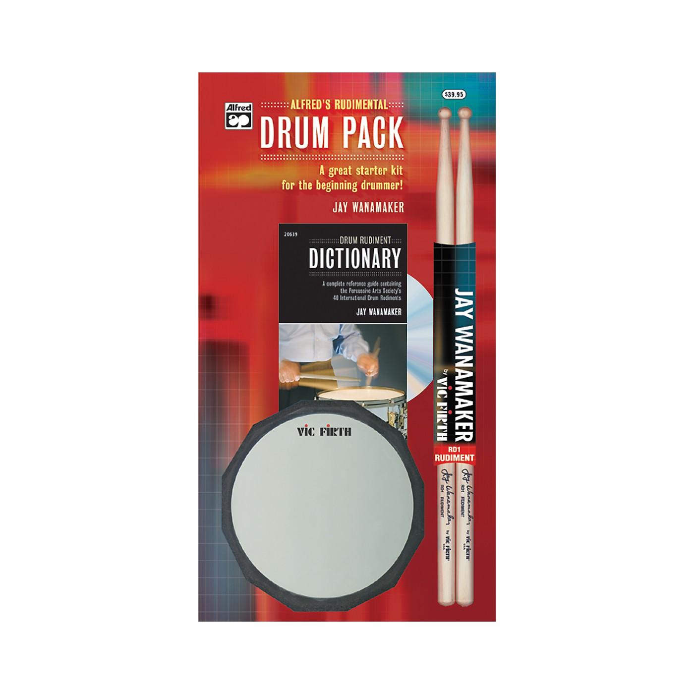 Alfred Rudimental Drum Pack Handy Guide CD Drum Pad & Sticks thumbnail