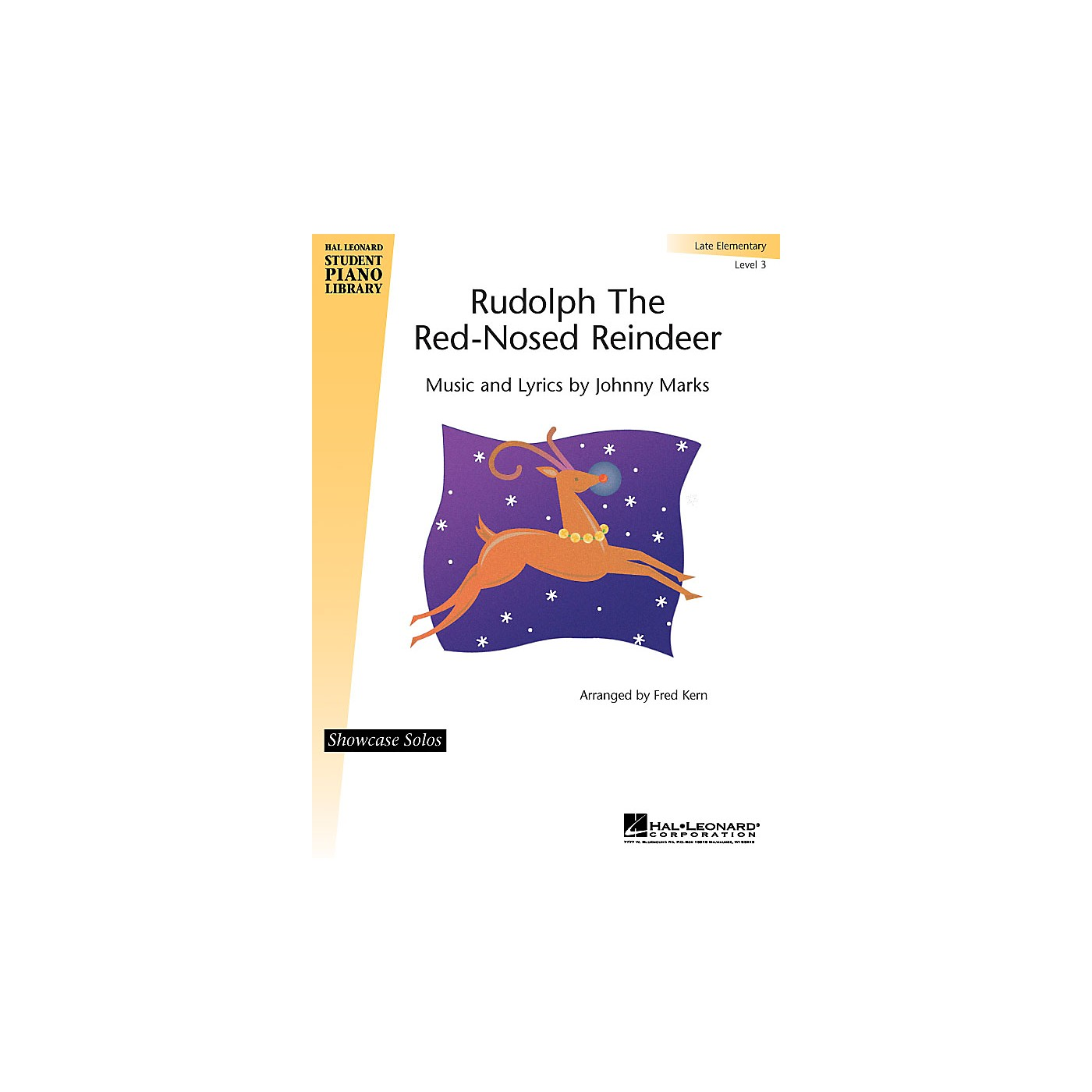 Hal Leonard Rudolph the Red-Nosed Reindeer Piano Library Series by Johnny Marks (Level Late Elem) thumbnail