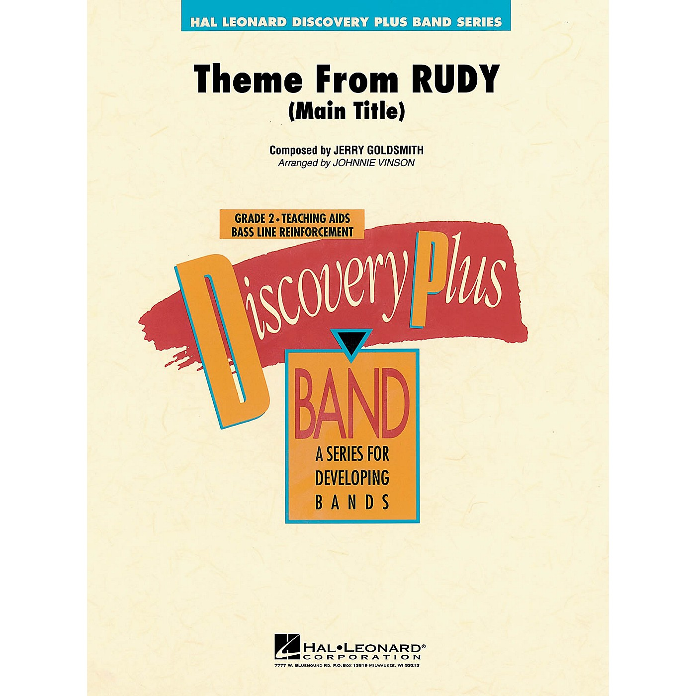 Hal Leonard Rudy - Discovery Plus Concert Band Series Level 2 arranged by Johnnie Vinson thumbnail