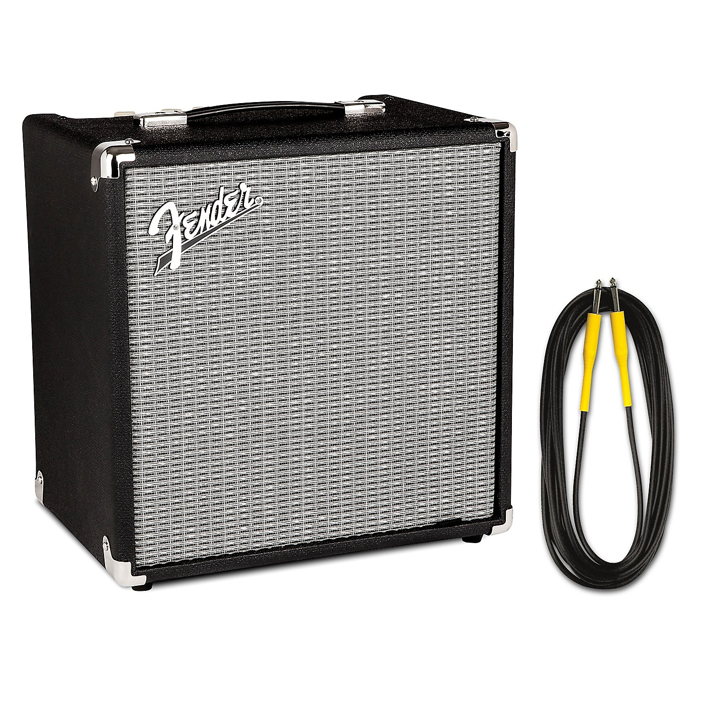 Fender Rumble 25W 1x8 Bass Combo Amp and 20 Foot Instrument Cable thumbnail
