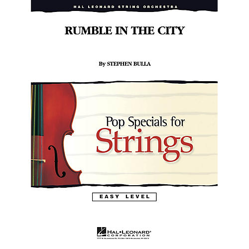 Hal Leonard Rumble in the City Easy Pop Specials For Strings Series Composed by Stephen Bulla thumbnail