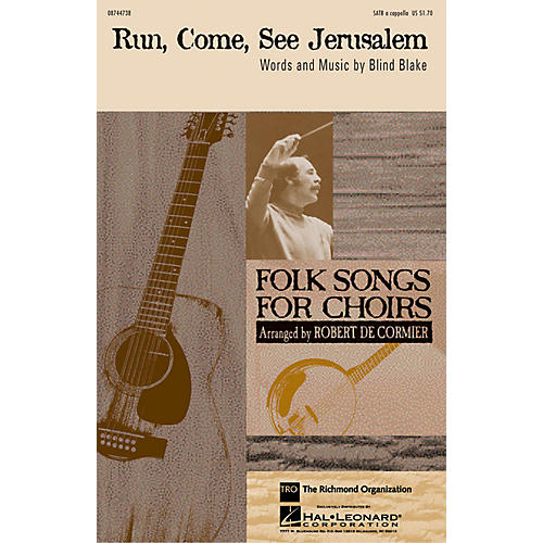 TRO ESSEX Music Group Run, Come, See Jerusalem SATB a cappella arranged by Robert DeCormier thumbnail