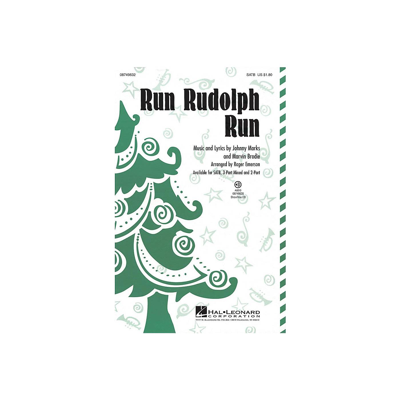 Hal Leonard Run Rudolph Run ShowTrax CD by Chuck Berry Arranged by Roger Emerson thumbnail