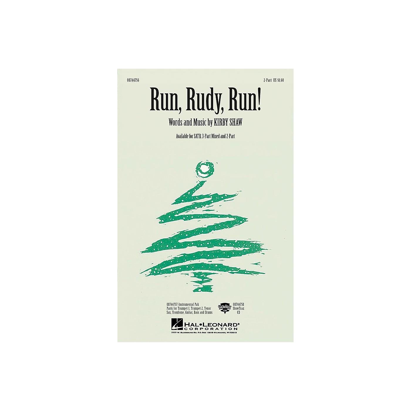 Hal Leonard Run, Rudy, Run! 2-Part composed by Kirby Shaw thumbnail
