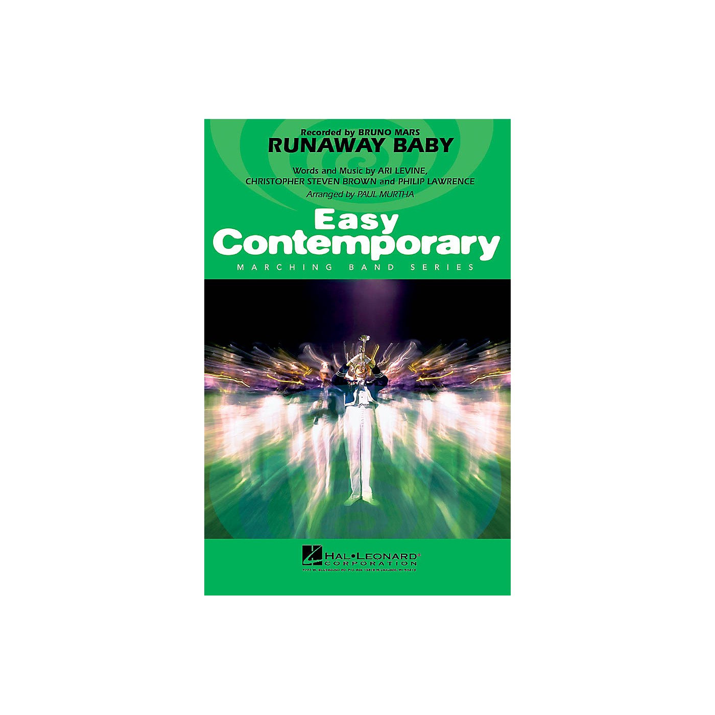 Hal Leonard Runaway Baby Marching Band Level 3 by Bruno Mars Arranged by Paul Murtha thumbnail