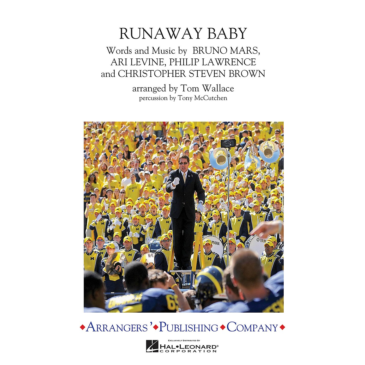 Arrangers Runaway Baby Marching Band Level 3 by Bruno Mars Arranged by Tom Wallace thumbnail