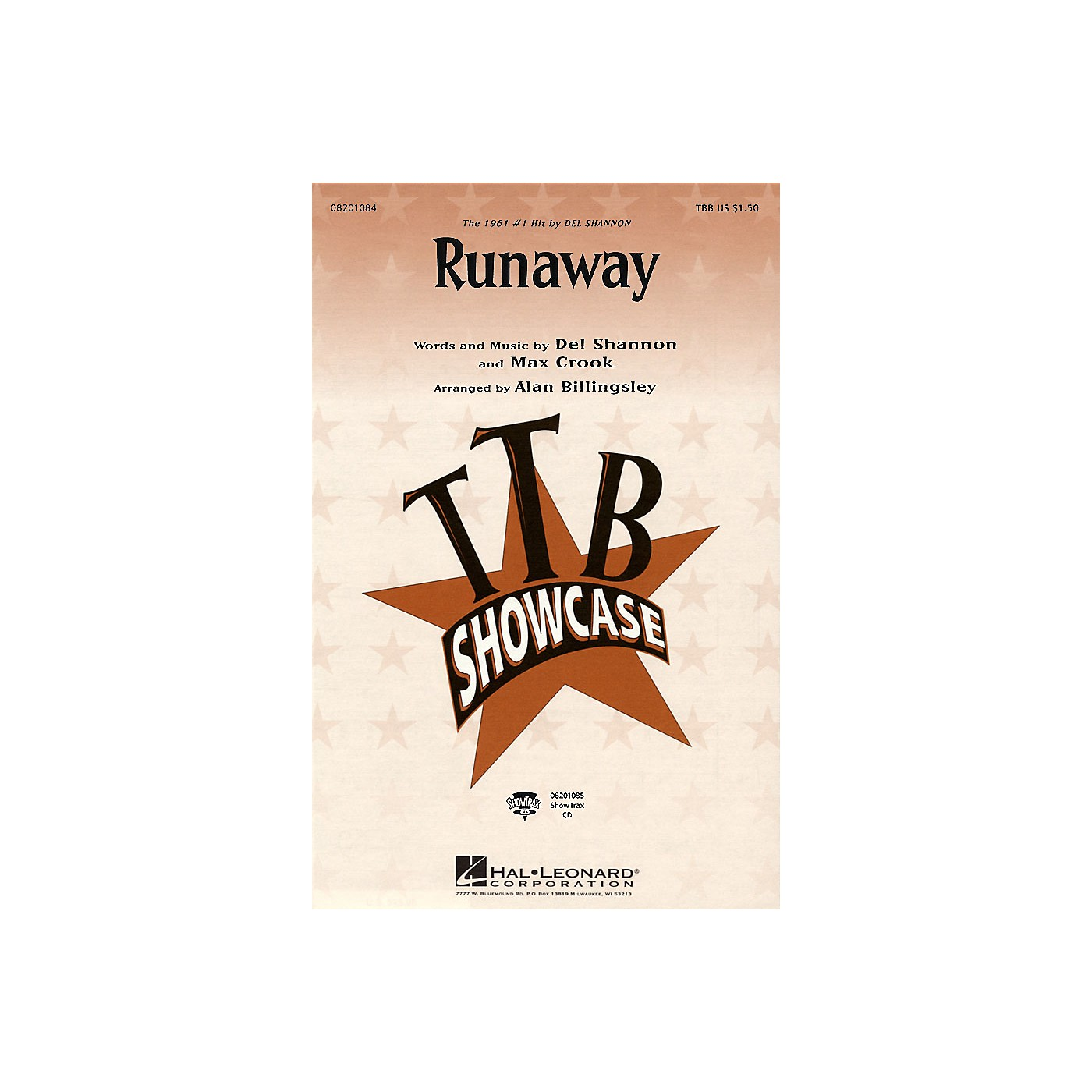 Hal Leonard Runaway ShowTrax CD by Del Shannon Arranged by Alan Billingsley thumbnail