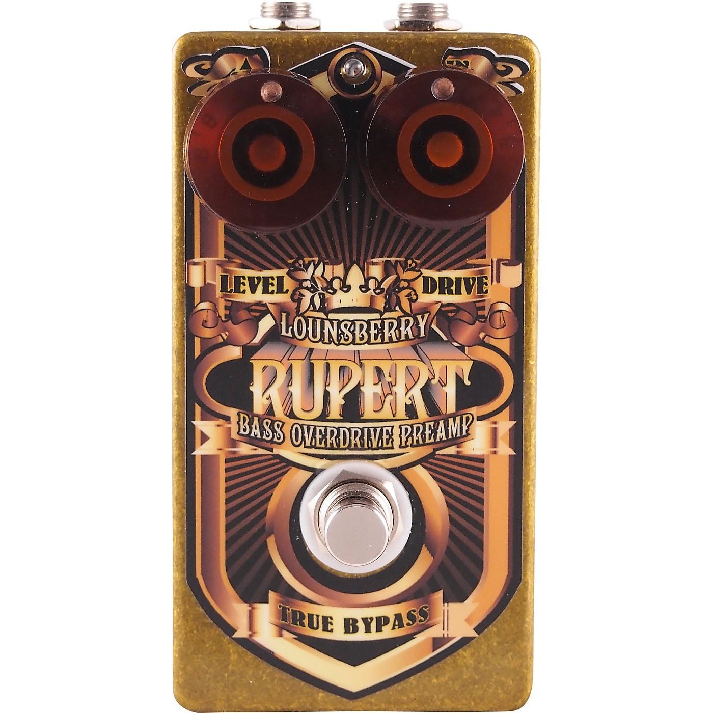 Lounsberry Pedals Rupert Bass Overdrive Effects Pedal thumbnail