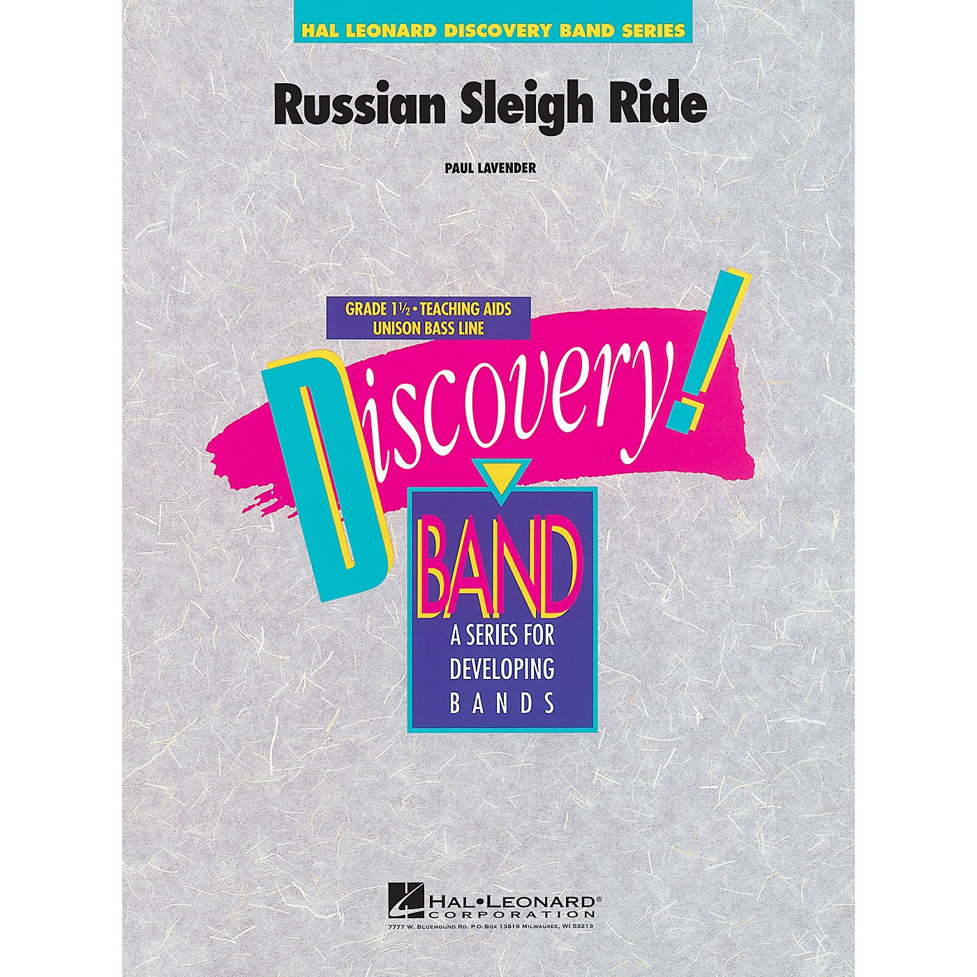 Hal Leonard Russian Sleigh Ride Concert Band Level 1.5 Composed by Paul Lavender thumbnail