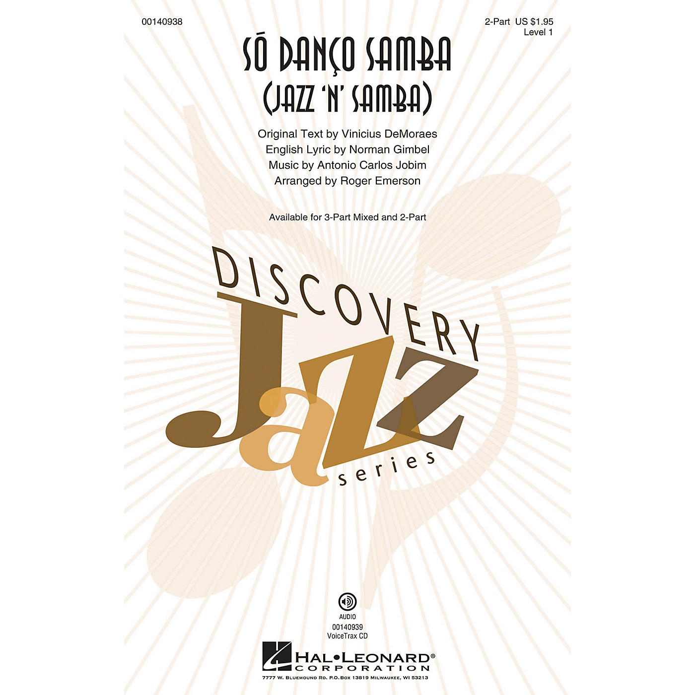 Hal Leonard Só Danço Samba (Jazz 'n' Samba) (Discovery Level 1) 2-Part arranged by Roger Emerson thumbnail