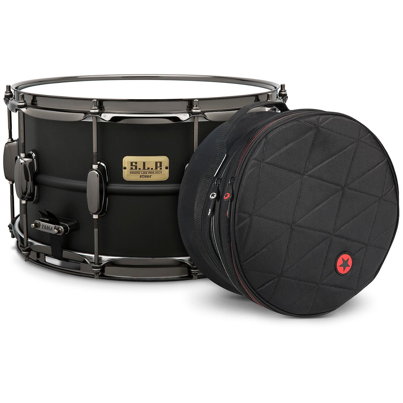 TAMA S.L.P. Big Black Steel Snare Drum with Road Runner Bag thumbnail