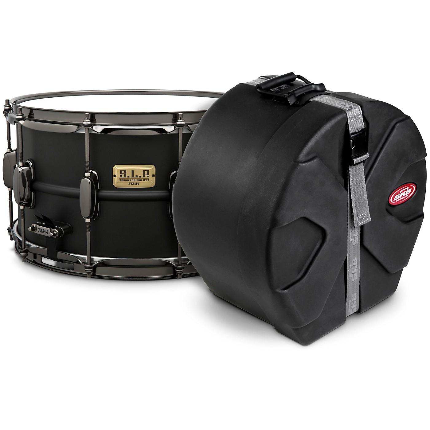 TAMA S.L.P. Big Black Steel Snare Drum with SKB Case thumbnail