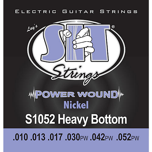 SIT Strings S1052 Heavy Bottom Power Wound Nickel Electric Guitar Strings-thumbnail