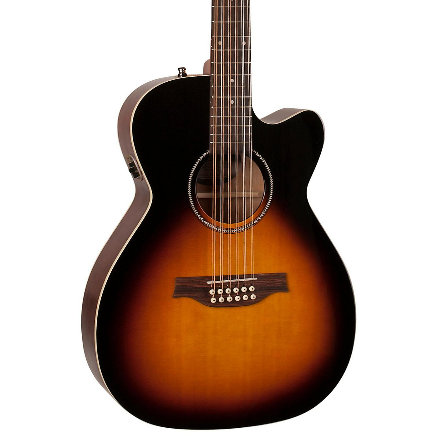 Seagull S12 Spruce Sunburst Cutaway Concert Hall QIT Acoustic-Electric Guitar thumbnail