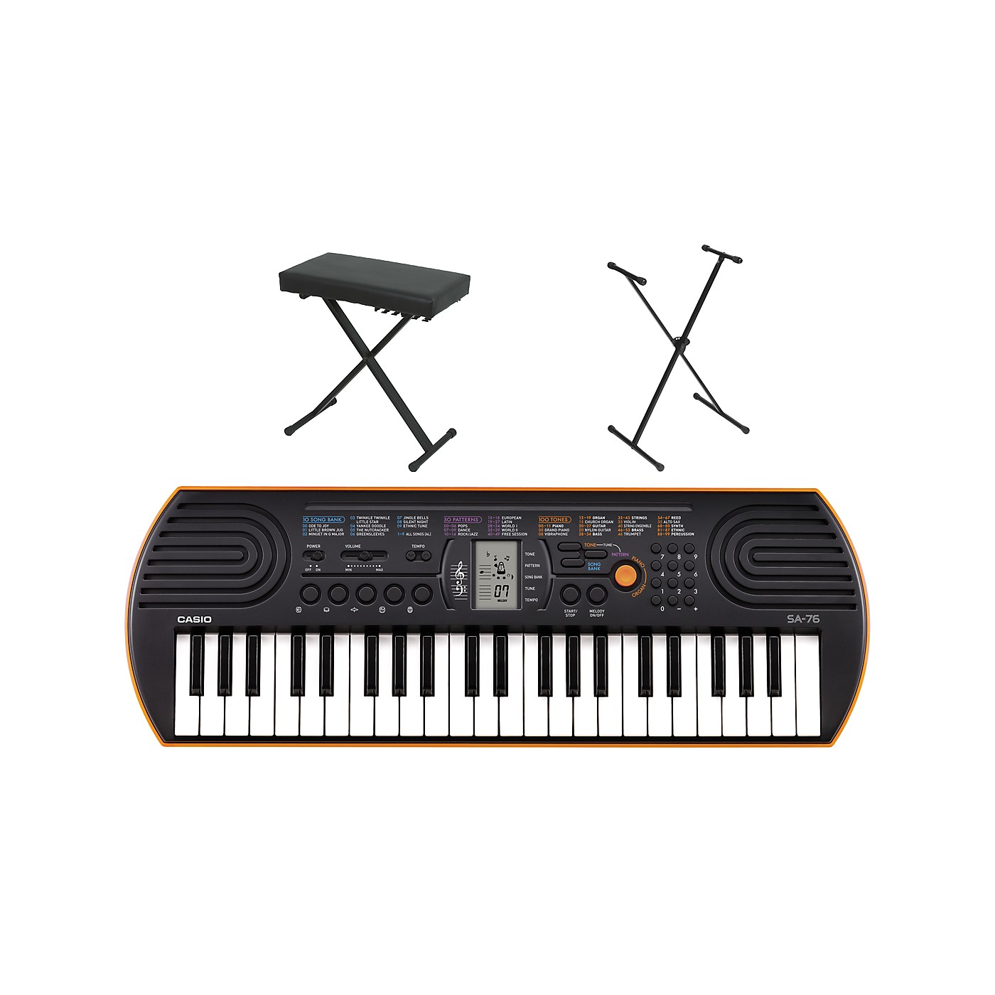 Casio SA-76 Keyboard with Stand and Bench thumbnail