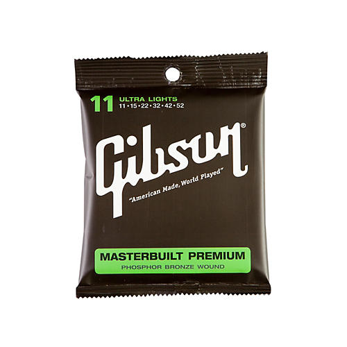 Gibson SAG-MB11 Masterbuilt Premium Phosphor Bronze Acoustic Guitar Strings thumbnail