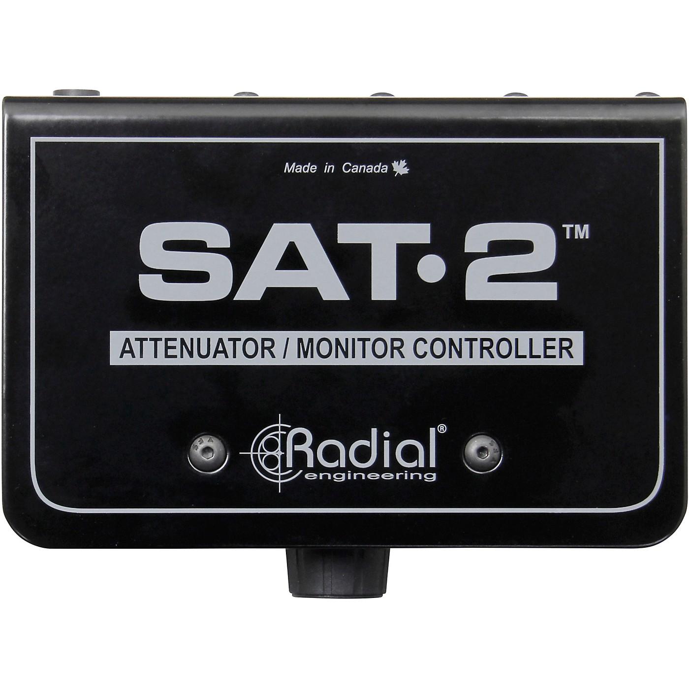 Radial Engineering SAT-2 Stereo Audio Attenuator & Monitor Controller thumbnail