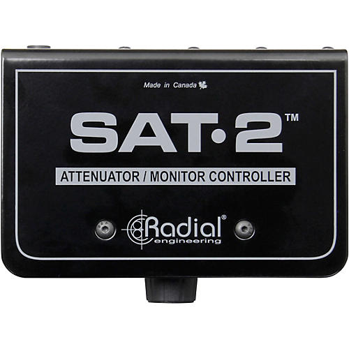 Radial Engineering SAT-2 Stereo Audio Attenuator & Monitor Controller thumbnail